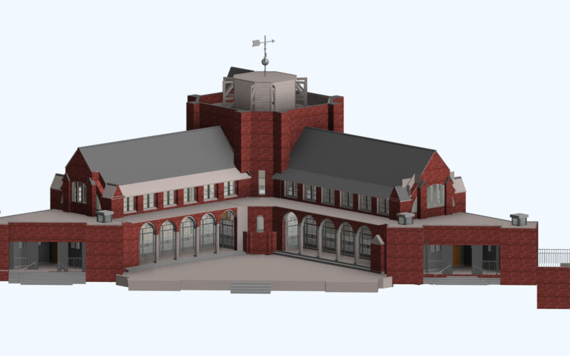BIM Rendered Model Chapel